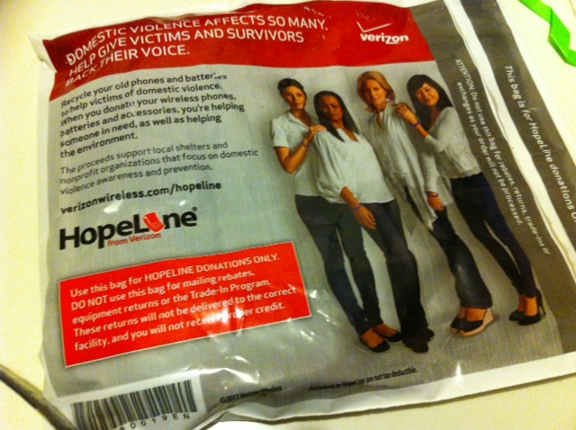 HopeLine from Verizon pouch